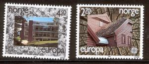 NORWAY 905-906 MNH EUROPA MODERN ARCHITECTURE 1987