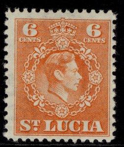 ST. LUCIA GVI SG151, 6c orange, M MINT.