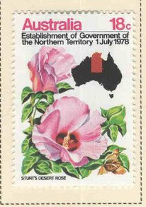 Australia Scott 681 MH* Flower Stamp 1978