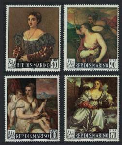 San Marino Paintings by Titian 4v SG#800-803