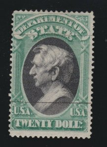US O71 $20 State Department Official Used F-VF POG Presentation Cancel SCV $1750