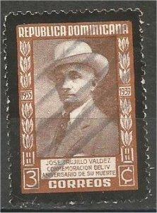 DOMINICANA,  1939, used 3c , José Trujillo Valdez, Scott 348