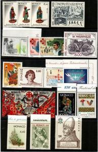 Monaco Scott 1976 // 2068 Mint NH sets (Catalog Value $47.45)