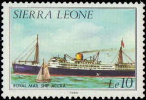 Sierra Leone  #639a-652a, Complete Set(15), Perf 12-1/2 x 12, 1985, Ships, NH