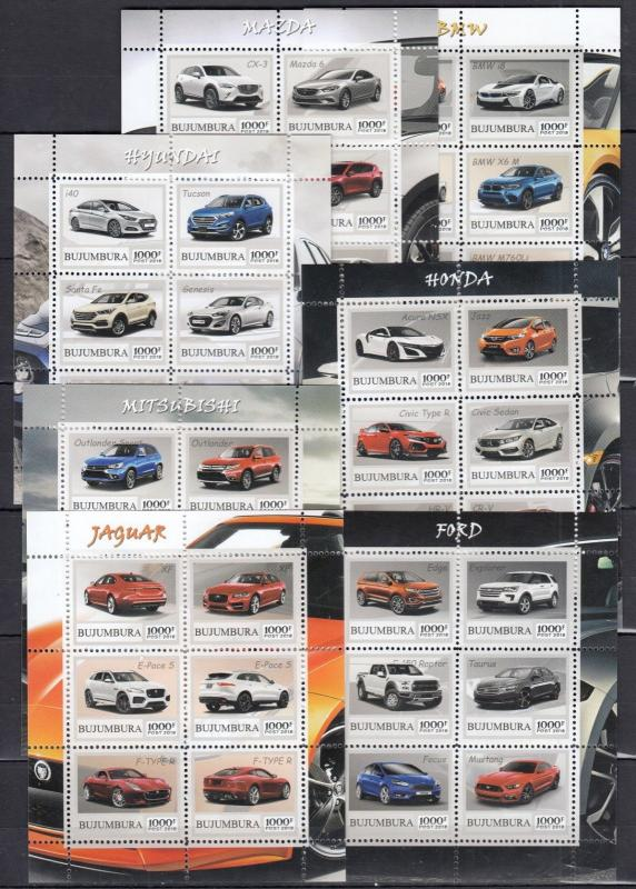 36diff pcs Transport classic retro autos perf/imperf PRIVATE ausgabe /nicht MNH