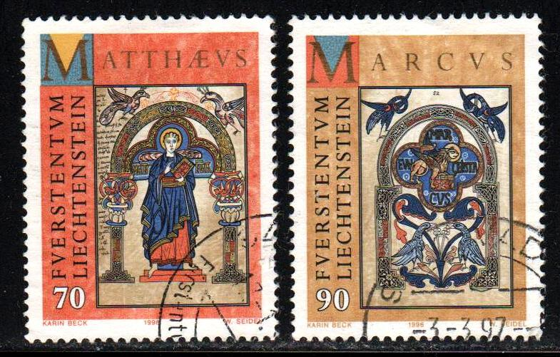 Liechtenstein # 1092-93 ~ Shrt Set 2/4 ~ Used, HMR ~ cv 2.50