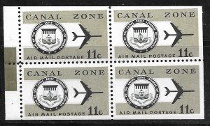 Canal Zone C49a: 11c Seal and Jet Plane, MNH, VF