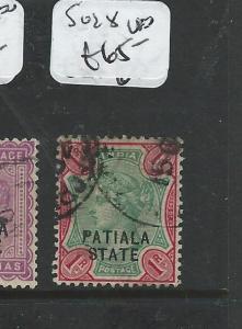 INDIA PATIALA (PP0404B) QV 1R  SG 28  VFU
