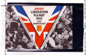 Jersey 711a//716a 1995 Liberation stamp booklet mint NH