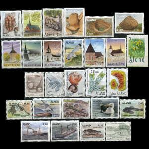 ALAND IS. 1994 - Scott# 84-108 Definitivies Set of 27 LH