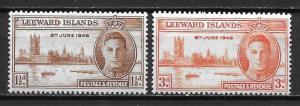 Leeward Islands 116-17 WWII Peace set MNH