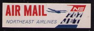 NORTHWEST ORIENT AIRLINES SCARCE VINTAGE AIR MAIL LABEL, SEE SCAN (AM53)