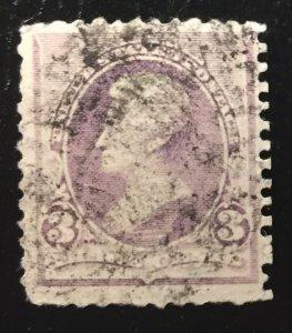US #221 Used Andrew Jackson 3c