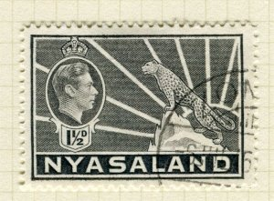 NYASALAND; 1938 early GVI issue fine used 1.5d. value
