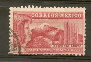 MEXICO STAMP VFU  SERVICIO AEREO VEINTE CENTAVOS  # M7