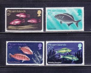 Pitcairn Islands 114-117 Set MNH Fish (A)