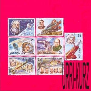 VIETNAM 1986 Space Rockets Spaceships Astronauts Cosmonauts 7v Sc1614-1620 CTO