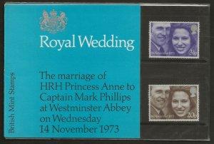 1973 ROYAL WEDDING  PRESENTATION PACK 56