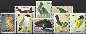 1980 Rwanda Birds, Uccelli, Oiseaux, complete set VF/MNH! LOOK!