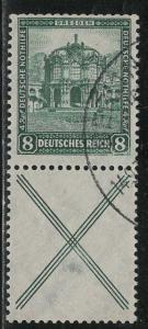 Germany Scott # B38, label X, used, se-tenant, Mi# S92