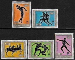 Niue #432-6 MNH Set - Los Angeles Summer Olympics