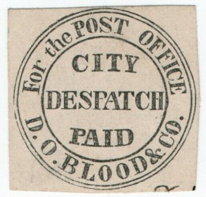 (I.B) US Local Post : Blood's City Despatch Paid (Type II)