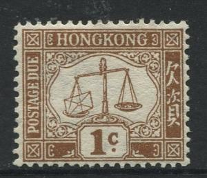 Hong Kong - Scott J1 - Postage Due Issue - 1923 - MNG - Single 1c Stamp