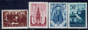 Bulgaria, Scott #698-701; Soviet-Bulgarian Treaty, MH