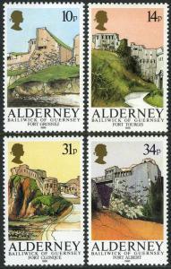 Alderney 28-31, MNH. Forts: Grosnez, Tourgis, Clonque, Albert, 1986