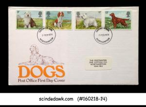 GREAT BRITAIN - 1979 DOGS / ANIMALS - 4V - FDC