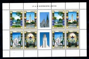 [ARV482] Aruba 2010 Churches & Beth Israel Synagoge Miniature Sheet MNH