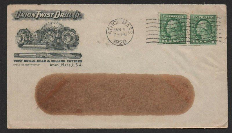 $US ADV. cover 1920 Union Twist Drill Company Athol Mass.
