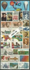 1983 Commemoratives Year Set (2031//2065) 35 var., MNH