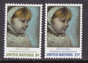 United Nations - New York # 224-225, Picasso Art, Mint NH, 1/2 Cat.