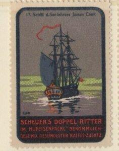 Germany History of Ships #17 James Cook's Ship NG Artist F. Seck
