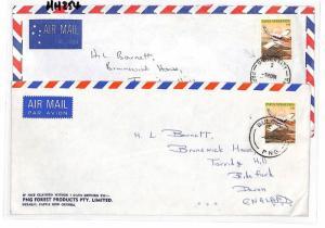 HH254 1981 Papua New Guinea University x2 Cover Devon GB {samwells-covers]PTS