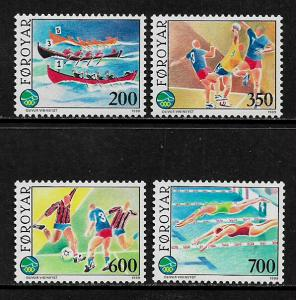 Faroe Is #193-6 MNH Set - Island Games - Sports