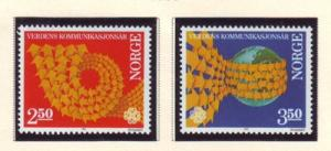 Norway Sc 825-6 1983Communications Yr stamps NH