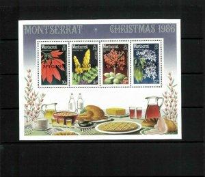 Wholesale Lot Christmas (1986) Flowers Mont.$635a SS Specimen Ovpts. Cat.99.00