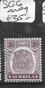 MALAYA NEGRI SEMBILAN (P0107B)  TIGER 2C  SG6   MOG