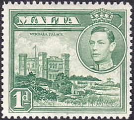 Malta # 193A mnh ~ 1p Verdala Palace, green