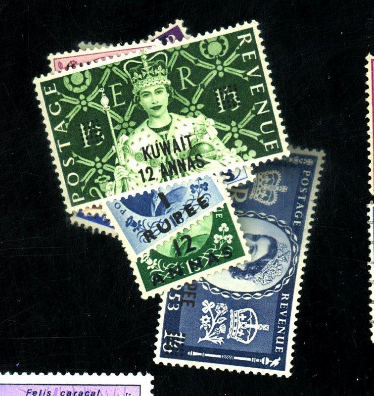 KUWAIT #102-112 115-6 MINT FVF OG HR/LH Cat $26