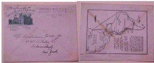 PERU US CONSUL WASH DC PANAMERICA FREE 1933 PICTORIAL ENVELOPE MAP AD