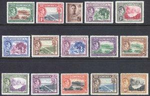 Dominica 1938 1/2d-10s Pictorial SG 99-109 Scott 97-111 VLMM/MVLH Cat £70($98)
