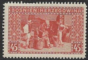 BOSNIA AND HERZEGOVINA 1906 45h BAZAAR P. 12 1/2 Sc 41 MLH