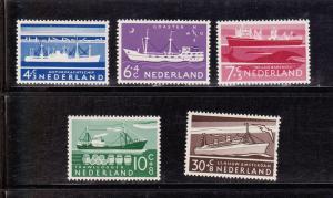 Netherlands # B 306-310, Mint  Light Hinged
