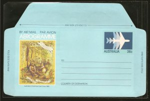 Australia Christmas Card circa 1880 36 Cent Aerogramme MNH