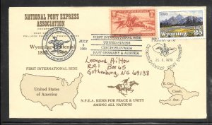 Just Fun Cover #894 Jun/25/1990 First International Ride Pony Express (my4655)