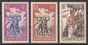 Cameroun 1954 Sc 323-5 Yt 297-9 set MNH**
