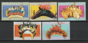 Papua New Guinea MNH 1126-30 Headdress Art 2004